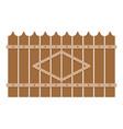 wooden peak fence icon flat style vector image