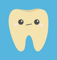 yellow tooth icon unhappy sad face emotion crying vector image