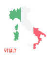 italy dotted map green red white flag colors vector image