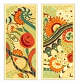 hand drawn ethnic pattern card set vector image