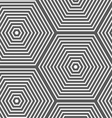 Monochrome striped hexagons vector image