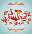 Seafood Label vector image
