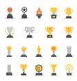 Trophy Awards color icons vector image