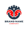 aries shield logo design vector image vector image