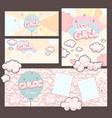 baby girls design card set vector image