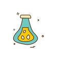 beaker flask icon design vector image