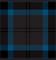 black and blue tartan plaid seamless pattern vector image vector image