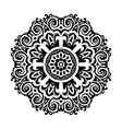 Black and white Mandala symbol vector image