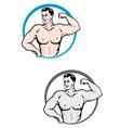 bodybuilder vector image vector image