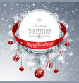 christmas banner with fir branches vector image vector image