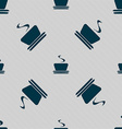 coffee tea icon sign Seamless pattern with vector image