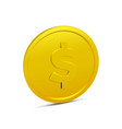 coin isolated on white background vector image vector image