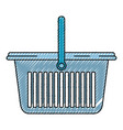 colored crayon silhouette of laundry basket with vector image vector image