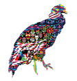 condor bird with patterns vector image vector image