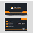 corporate business card vector image vector image