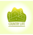 Country life Properti logo vector image