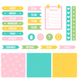 Cute printable stickers for planner organizer vector image