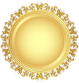 Decorative gold plate vector | Price: 1 Credit (USD $1)