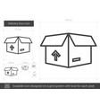 delivery box line icon vector image