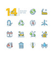 ecology - set line design style icons vector image vector image