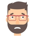 Embarrassed hipster man vector image vector image