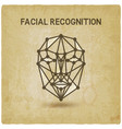 facial recognition system 3d face vintage vector image vector image
