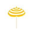flat beach sun umbrella icon vector image vector image