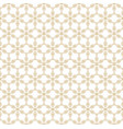 geometric gold and white floral seamless pattern vector image vector image