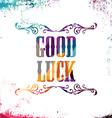 good luck bstract colorful triangle geometrical vector image