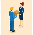 Goods Delivery To Client Isometric Design vector image