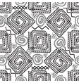 greek black and white seamless pattern vector image
