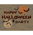 Halloween happy party design vector image
