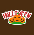 halloween pumpkin with face on dark background vector image