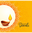 happy diwali greeting banner beautiful design vector image vector image