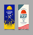 happy labor day engineer cap with wrench hammer vector image vector image