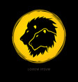 head lion and lioness vector image vector image