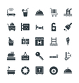 Hotel and Restaurant Cool Icons 2 vector image vector image