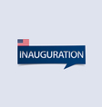 Inauguration Day banner isolated vector image