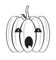 isolated halloween pumpkin icon vector image