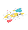 luxury sport car for racing competition vector image