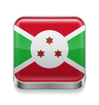 Metal icon of Burundi vector image vector image