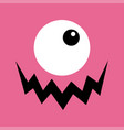 monster head boo spooky screaming face emotion vector image vector image