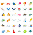 multitude icons set isometric style vector image vector image