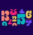numeral font font number numeral vector image vector image