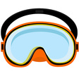 Orange diving mask vector image vector image