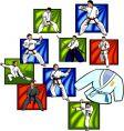 oriental combat sports vector vector image