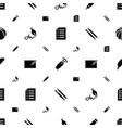 pen icons pattern seamless white background vector image vector image