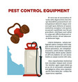 pest prevention means informative poster with vector image vector image
