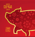 pig shape background chinese new year 2019 vector image vector image