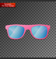 pink ladies sunglasses on transparent background vector image